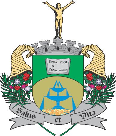 Imagem do brasão do município de Poços de Caldas